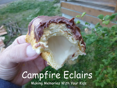 Credit: http://makingmemorieswithyourkids.com/2012/08/campfire-eclairs/