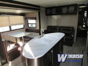 Dutchmen Kodiak Travel Trailer kitchen island