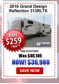 Grand Design Reflection 313RLTS Fifth Wheel on sale