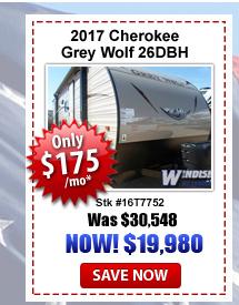 Windish RV Grey Wolf 26DBH on sale
