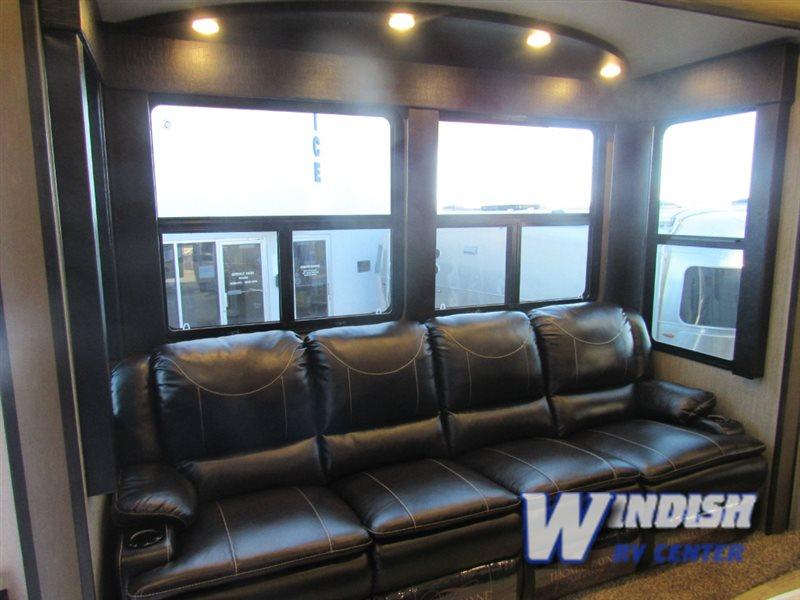 Grand Design Momentum M-Class Fifth Wheel Toy Hauler Seating