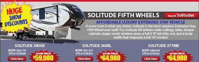 Solitude Show Prices