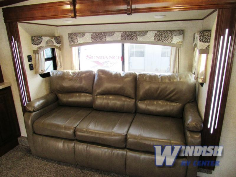 Heartland Bighorn Traveler Fifth Wheel Seating With LED Accents