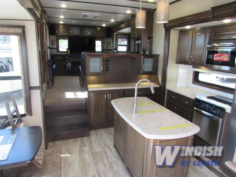 Grand Design Solitude Fifth Wheel Rear Entertainment